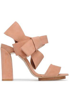 DELPOZO Bow-embellished suede sandals