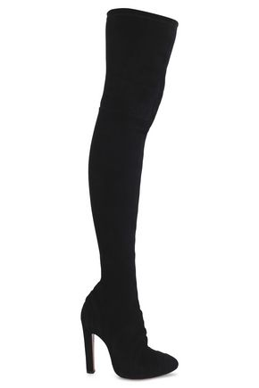 ALAÏA Stretch-suede thigh boots