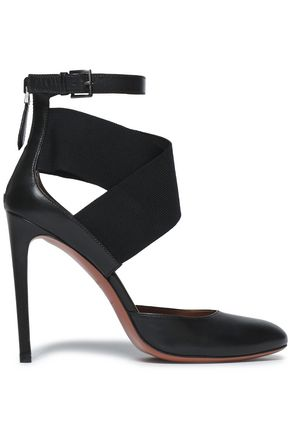 ALAÏA Leather and stretch-knit sandals