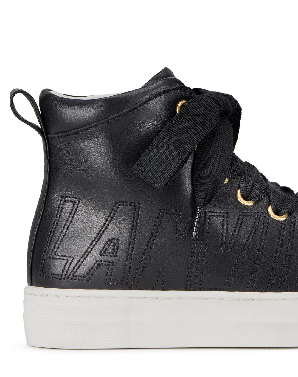 BLACK HIGH-TOP SNEAKERS - Lanvin