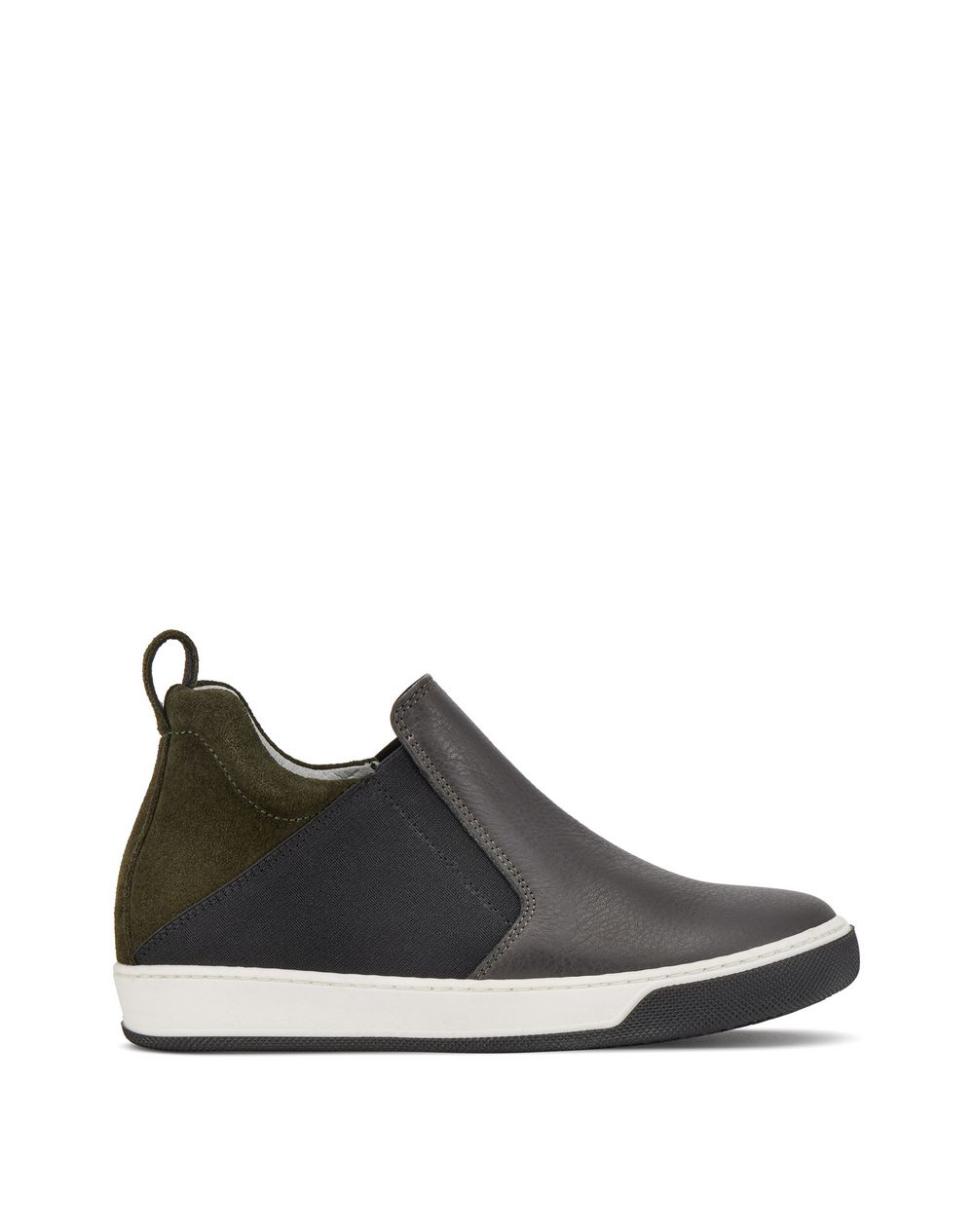 GRAY THREE-TONE SNEAKERS - Lanvin