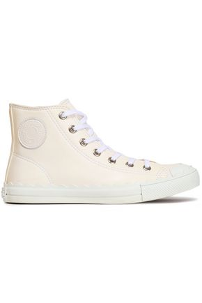CHLOÉ Leather high-top sneakers