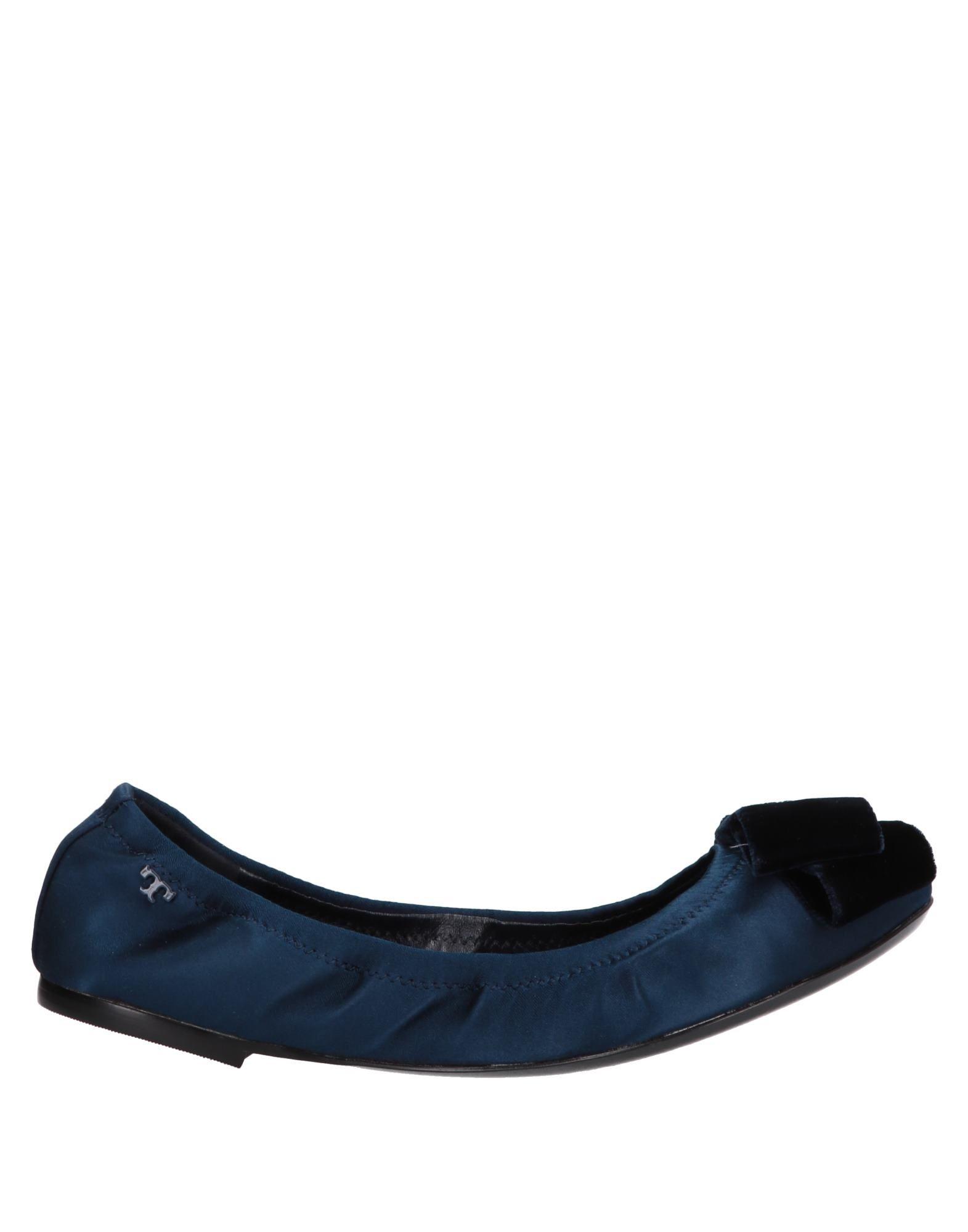 《送料無料》TORY BURCH レディース バレエシューズ ダークブルー 5 紡績繊維