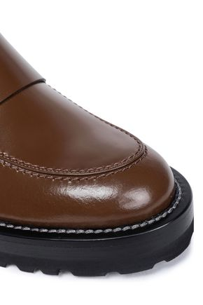 MARNI Glossed-leather loafers