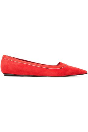 MARNI Suede point-toe flats