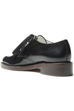 MARNI Glossed-leather brogues