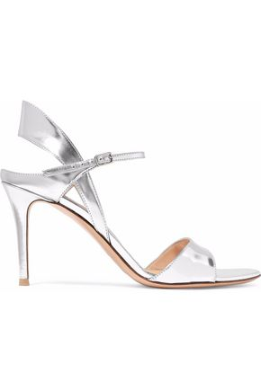 GIANVITO ROSSI Blake mirrored-leather sandals