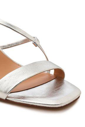 HALSTON HERITAGE Metallic leather sandals