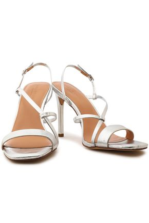 0757a7af26ba HALSTON HERITAGE Metallic leather sandals