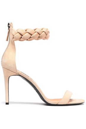 OSCAR DE LA RENTA Braided suede sandals