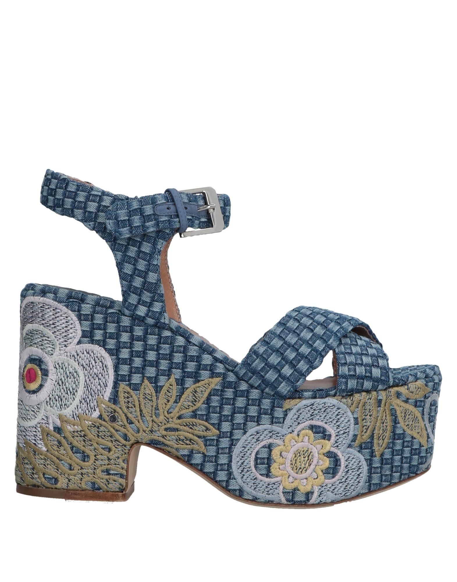 《送料無料》LAURENCE DACADE レディース サンダル ブルー 36 紡績繊維