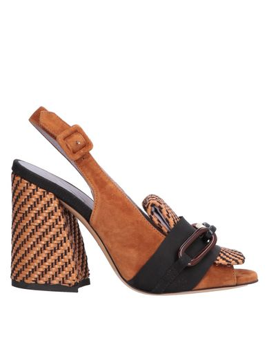 Купить Женские сандали  желто-коричневого цвета