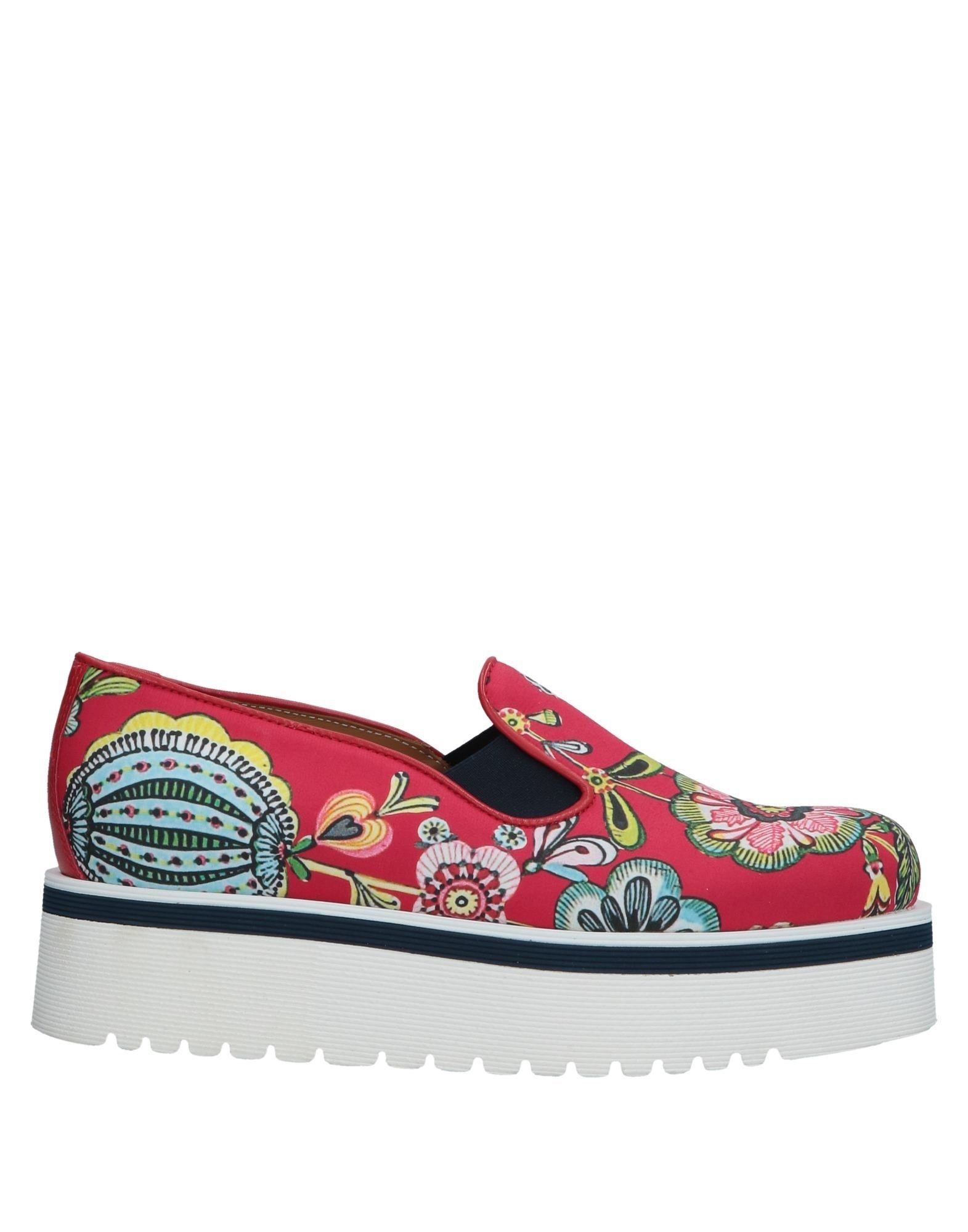 DONDUP Loafers. multicolor pattern, elasticized gores, round toeline, flatform, leather lining, rubber cleated sole, no appliqués, contains non-textile parts of animal origin, large sized. Textile fibers