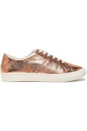 MARC JACOBS Metallic textured-leather sneakers