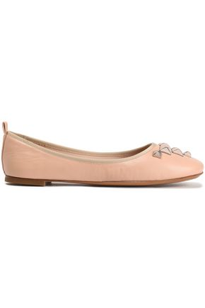 MARC JACOBS Studded leather ballet flats