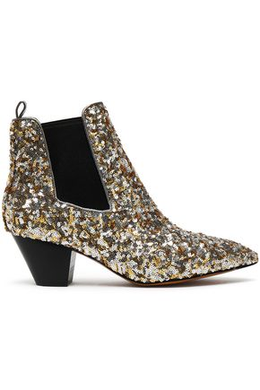 MARC JACOBS Sequined woven ankle boots