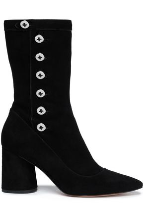 MARC JACOBS Button-detailed suede ankle boots
