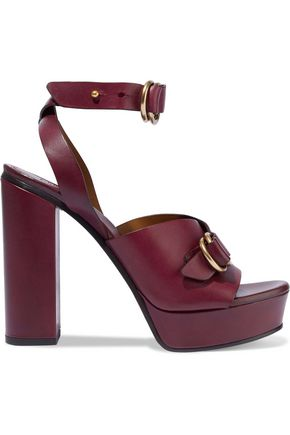 CHLOÉ Kingsley buckled leather platform sandals