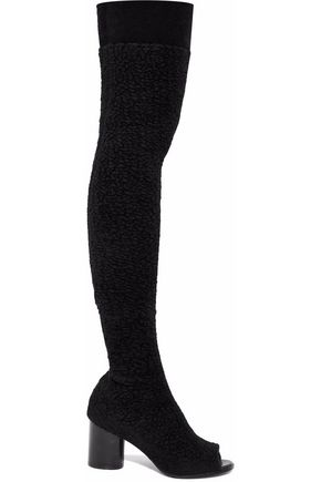 MISSONI Faux shearling over-the-knee boots