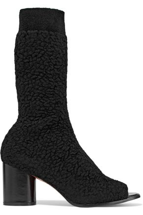 MISSONI Bouclé-knit sock boots