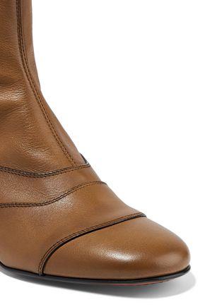 CHLOÉ Lexie paneled leather boots