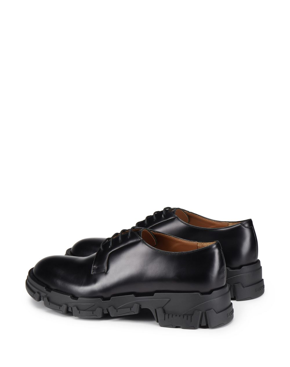SPAZZOLATO LEATHER DERBY SHOE - Lanvin