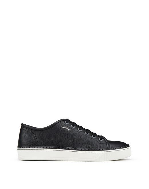 TRAINERS LOW-TOP IN PELLE DI VITELLO PIENO FIORE - Lanvin