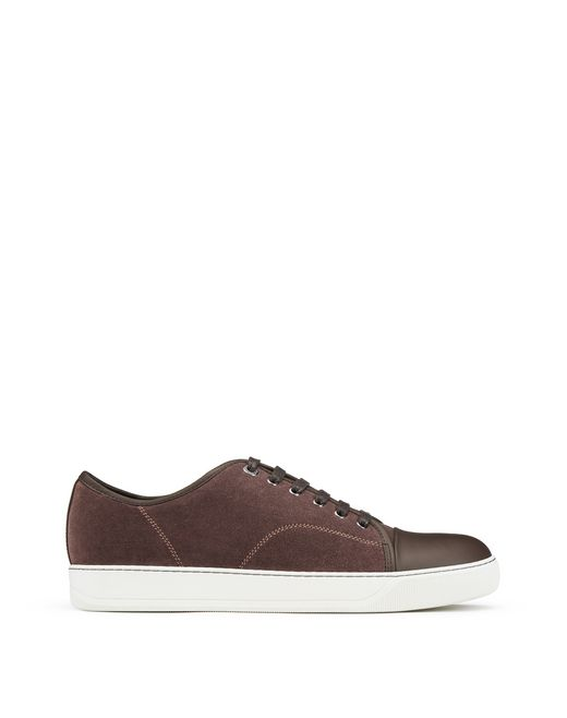 DBB1 CLAY-COLOURED SUEDE CALFSKIN TRAINER - Lanvin