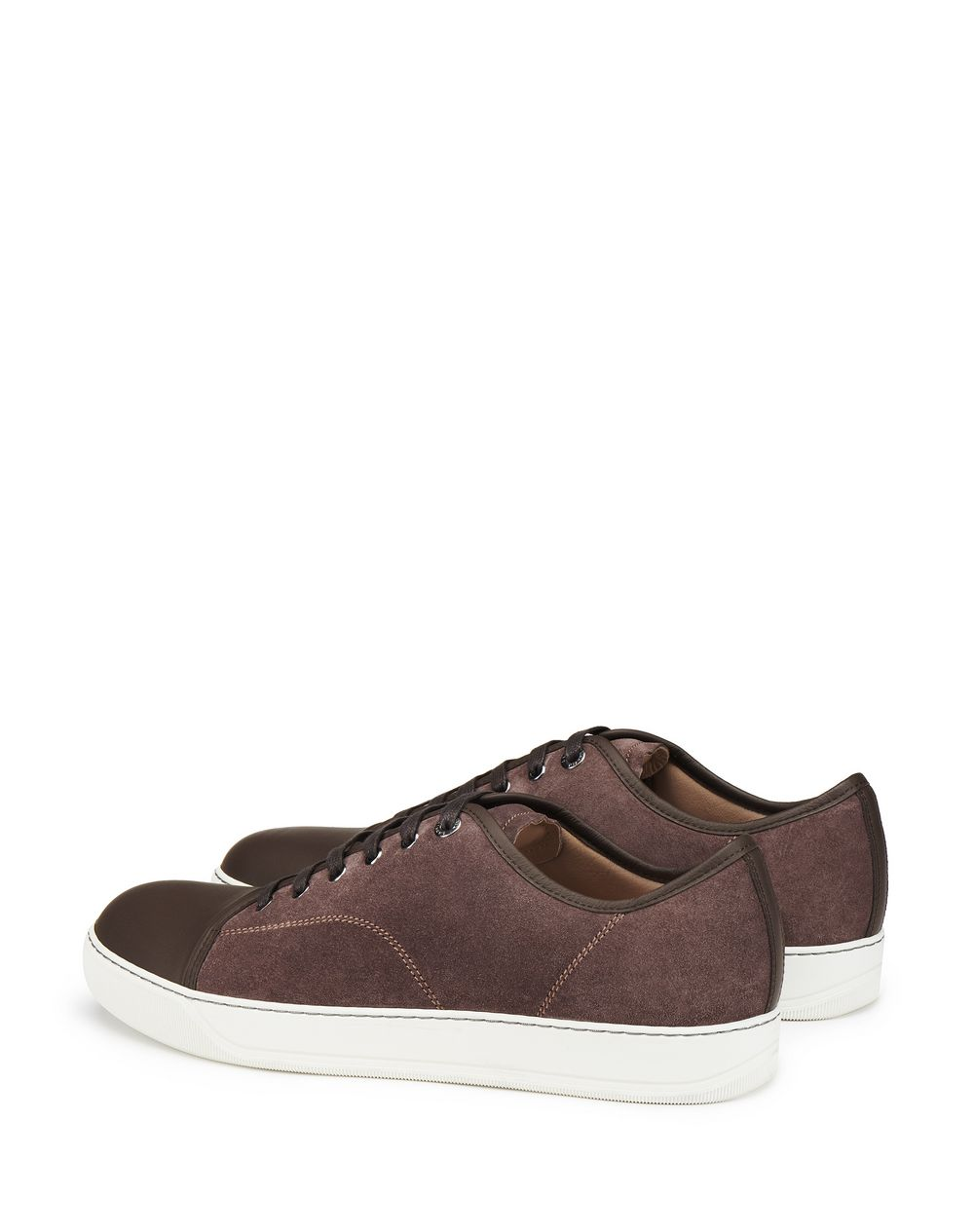 DBB1 CLAY-COLORED SUEDE CALFSKIN SNEAKER - Lanvin