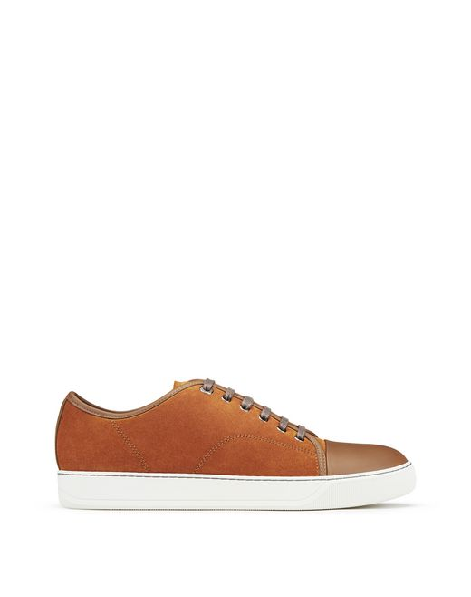 DBB1 DARK ORANGE SUEDE CALFSKIN TRAINER - Lanvin