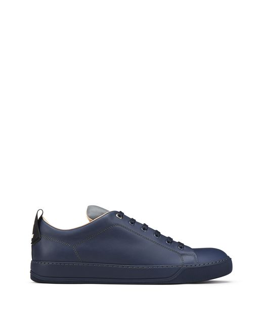 LOW-TOP TRAINER WITH REFLECTIVE TONGUE  - Lanvin