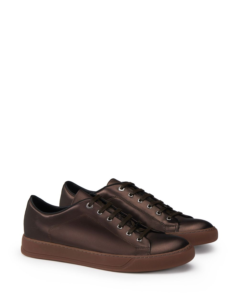 METALLIC BROWN LOW-TOP SNEAKER - Lanvin