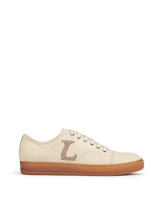 LIGHT BEIGE NUBUCK CALFSKIN TRAINER - Lanvin