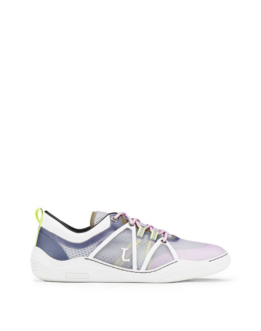 SEMI-TRANSPARENT YELLOW AND BLUE DIVING SNEAKER - Lanvin