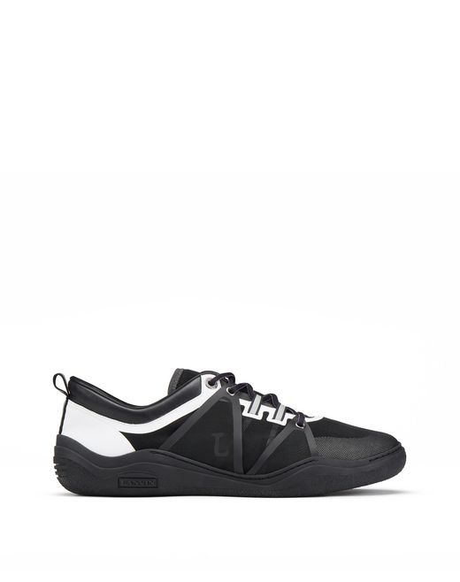 SEMI-TRANSPARENT BLACK AND WHITE DIVING TRAINER - Lanvin