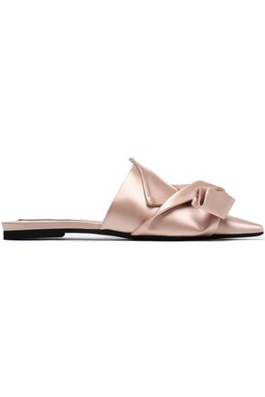 N°21 Knotted satin slippers