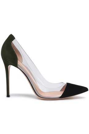 GIANVITO ROSSI PVC-paneled point-toe pumps