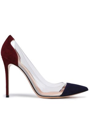 GIANVITO ROSSI Velvet and Perspex pumps
