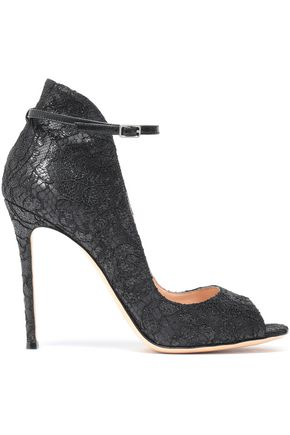 GIANVITO ROSSI Corded lace leather sandals