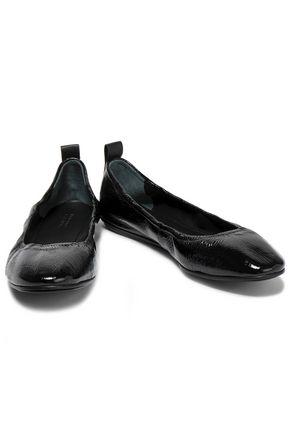 MERCEDES CASTILLO Carola crinkled patent-leather ballet flats
