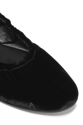 MERCEDES CASTILLO Carola leather-trimmed suede ballet flats
