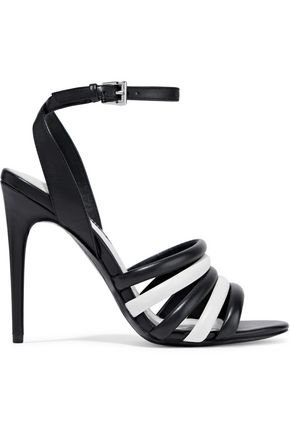 ALICE + OLIVIA Tahlia two-tone leather sandals