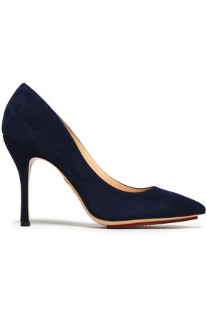 CHARLOTTE OLYMPIA Suede pumps