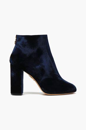 CHARLOTTE OLYMPIA Velvet ankle boots