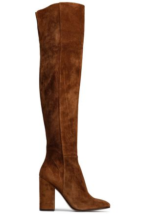 GIANVITO ROSSI Rolling High over-the-knee suede boots