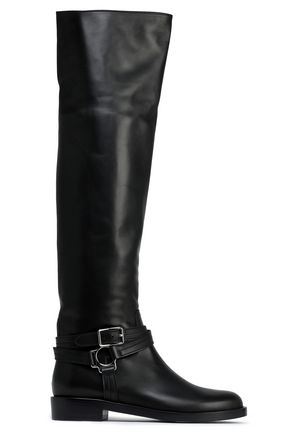 GIANVITO ROSSI Shetland leather knee boots