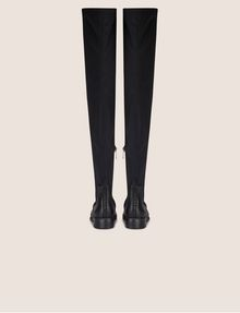 ARMANI EXCHANGE BONDED OVER-THE-KNEE BOOTS Boots Woman d