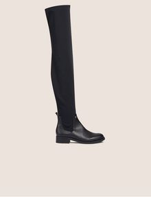 ARMANI EXCHANGE BONDED OVER-THE-KNEE BOOTS Boots Woman f