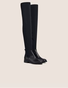 ARMANI EXCHANGE BONDED OVER-THE-KNEE BOOTS Boots Woman r