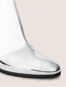 ARMANI EXCHANGE HIGH-SHINE METALLIC BOOT Boots Woman a